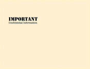 Important Confidential Envelope 10x13 PEB54 - ZBP Forms