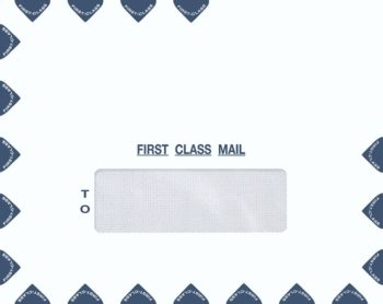 Single Window Landscape First Class Envelope for easy mailing of tax returns or important documents PEM39 - ZBP Forms