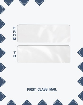 Large First Class Envelope Double Windows in the Center for address cover sheets PES45 PEO41 - ZBP Forms