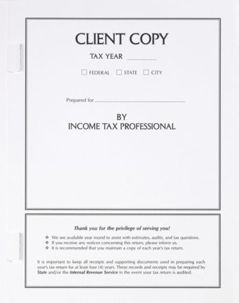 Client Copy Tax Folder with Side Staple Tabs at More at Deep Discounts SCW01 - ZBP Forms
