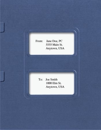 Lacerte Tax Folders with Windows and Side Staple Tabs - ZBP Forms