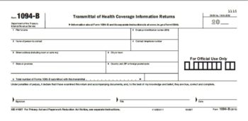 1094-B Transmittal forms for 1095 forms - ZBP Forms