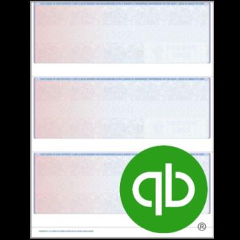 3up Blank Checks for QuickBooks Intuit Software - ZBPForms.com
