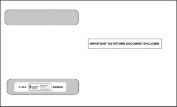 W2 Envelope for 4up W2 Forms in a horizontal layout - ZBP Forms