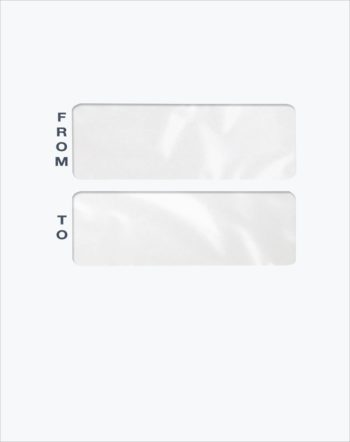 Blank Large Mailing Envelope with Double Windows PET46 - ZBP Forms