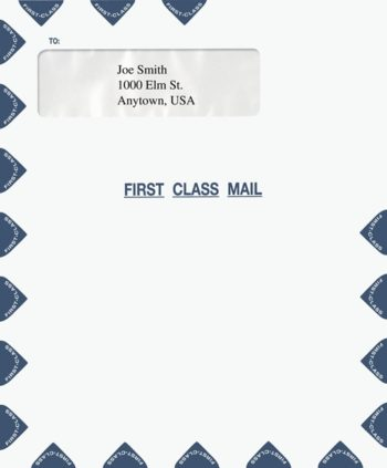 "First Class Mail Envelope 9.5 x 11.5"" with Single Window PEW23 PEC29 - ZBP Forms"