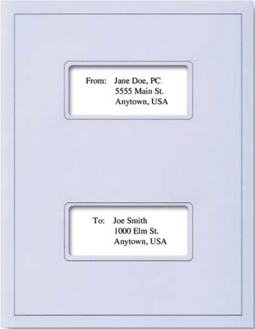 Double Window Tax Covers Light Blue Zbp Forms