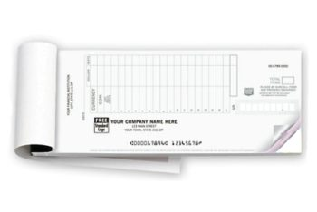 Deposit Ticket Booklet 2-pt, personalized for your company, with a logo included - ZBPForms.com