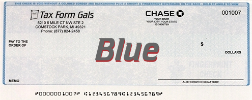 Business Checks Blue Color - ZBPForms.com