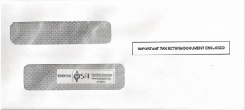 Envelope for 1099 Express Software, #9 Size - ZBPforms.com